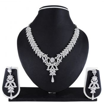 Atasi International Nusia Alloy Jewel Set (White)