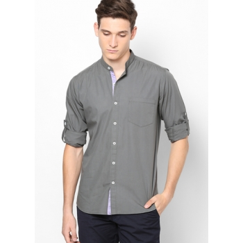 Phosphorus Slate Grey Colour Shirt